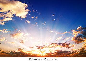 Colored sunrise