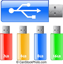 Colored USB flash drive