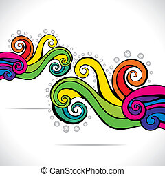 colorful abstract swirl background