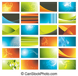 colorful business cards set
