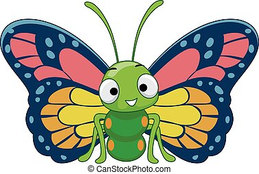 Colorful Butterfly Mascot