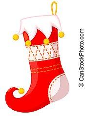 Colorful cartoon xmas stocking