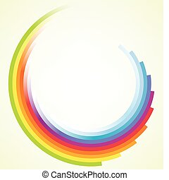 Vector colorful circular motion background