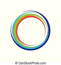 Colorful Crescent Zen Symbol Logo Design
