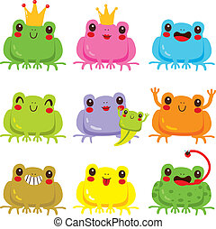 Colorful Frogs Collection