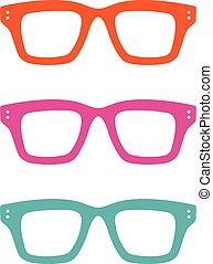 Colorful Geek Glasses Logo Template Illustration Design. Vector EPS 10.