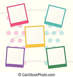 colorful kids scrapbook page template