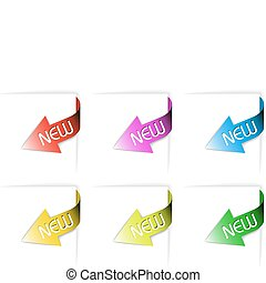 Colorful new corner ribbons set