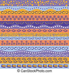 Colorful stripe pattern