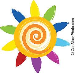 colorful sun icon