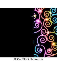 Colorful swirls card