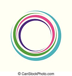 Colorful Zen Hole Circle Symbol Logo Design