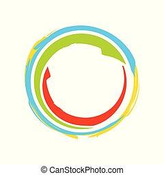 Colorful Zen Symbol Logo Design