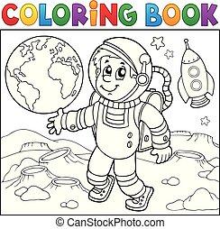 Coloring book astronaut theme 2
