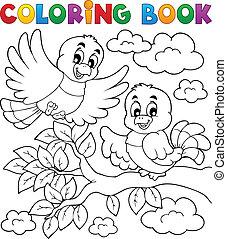 Coloring book bird theme 2
