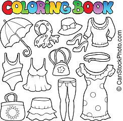 Coloring book clothes theme 2
