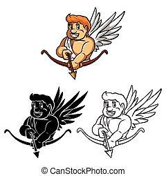 Coloring book Cupid caracter