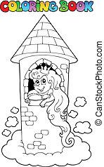 Coloring book princess theme 1