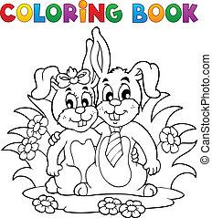 Coloring book rabbit theme 2