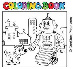Coloring book robot theme 2