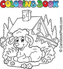 Coloring book spring theme 1
