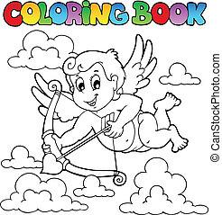 Coloring book Valentine theme 1