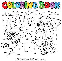 Coloring book winter theme 2