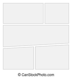 Comics blank layout template background. Vector Page 1