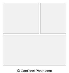Comics blank layout template background. Vector Page 2
