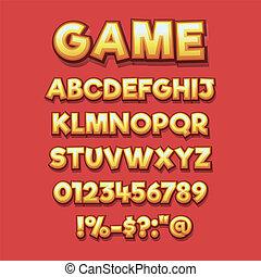 comics style alphabet collection set 2