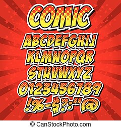 comics style alphabet collection.