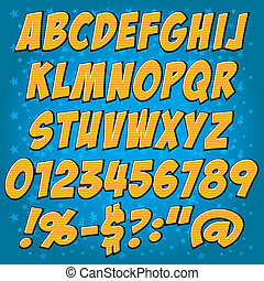comics style alphabet collection