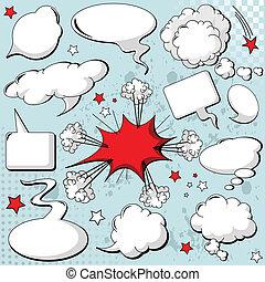 Comics style speech bubbles