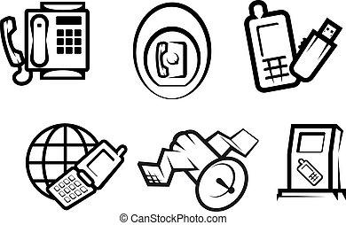 Communication and internet symbols