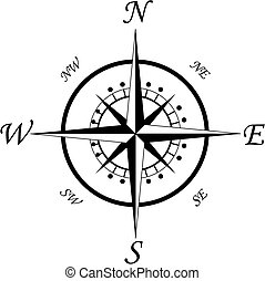 Compass symbol isolated on white for design