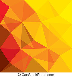 concept vector background of orange, red geometric shapes of polygons, triangles, rhombus, etc