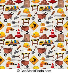 construction object seamless pattern