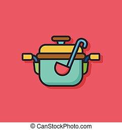 cooking soup pot icon