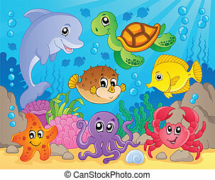 Coral reef theme image 5 - vector illustration.