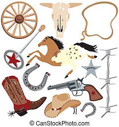 Cowboy clip art elements