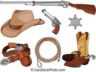 Cowboy objects set