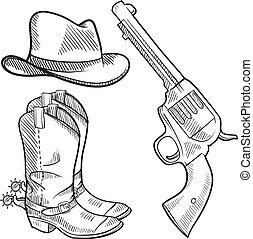 Cowboy objects sketch