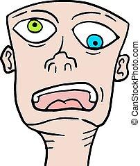 Creative design of Crazy face