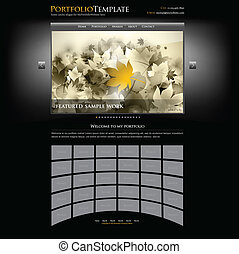 creative website portfolio template for designers and photographers - editable vector