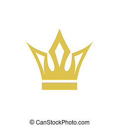 abstract medieval crown on a white background