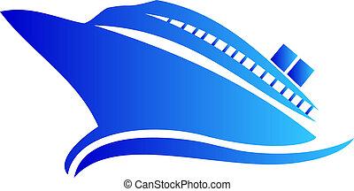 Cruise or ship logo