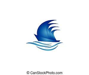 Cruise ship symbol vector icon