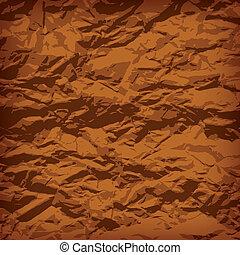 Crumpled paper background vignette, vector illustraion