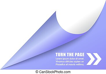 Curled page corner