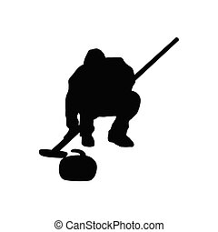 Curling silhouette